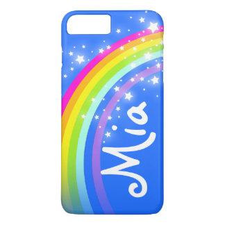 Your short name rainbow blue iphone case