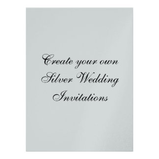 "Your Silver Wedding Invitations  6.5"" x  8.75"""