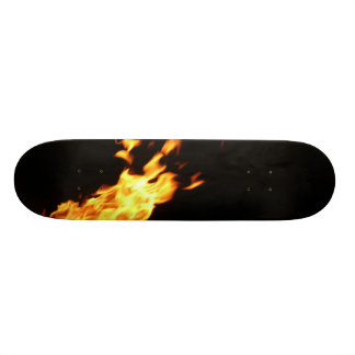 Your skate is on fire skateboard deck
