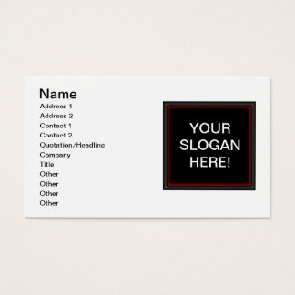 Your Slogan Standard Business Cards