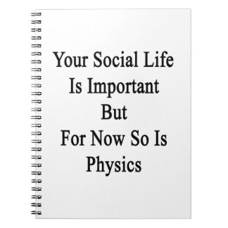 Your Social Life Is Important But For Now So Is Ph Spiral Notebook