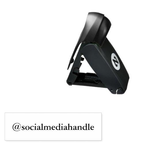 Your Social Media Handle Self Inking Pocket Stamp