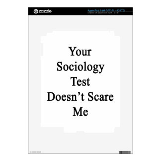 Your Sociology Test Doesn't Scare Me iPad 3 Decal