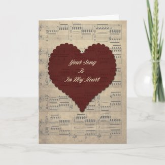 Your Song Valentine's Day Card