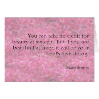 Your soul makes you beautiful card
