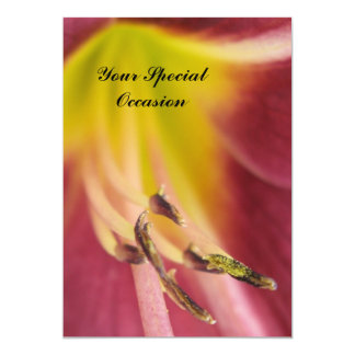 Your Special Occasion Flower Invitation