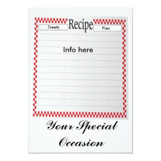 Your Special Occasion Recipe Invitation