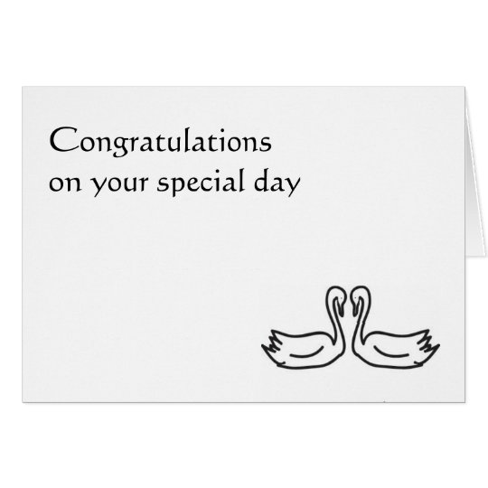 Your Special Union - Wedding Card