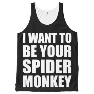 Your Spider Monkey I All-Over Print Tank Top
