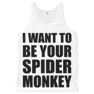 Your Spider Monkey II All-Over Print Tank Top