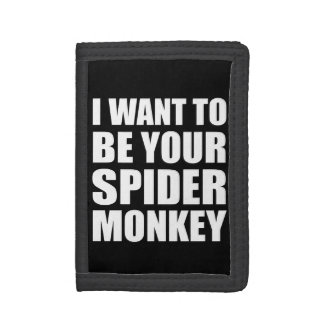 Your Spider Monkey Trifold Wallet