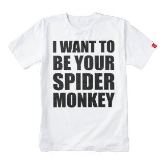 Your Spider Monkey Zazzle HEART T-Shirt