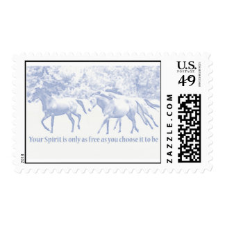 Your spirit is only as free as you choose it to be postage stamp