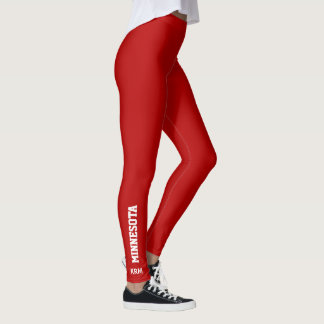 Your State and Custom Color Monogram Leggings