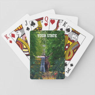 Your State Buck Deer Playing Cards