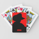 YOUR STATE Customizable Text Cowboy Bicycle Playing Cards