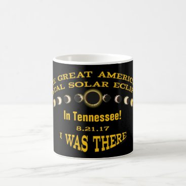 USA Themed YOUR STATE | I was There | Solar Eclipse Stages Coffee Mug