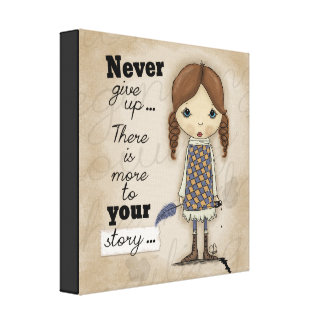 Your Story-Girl with Pen and Ink Canvas Print