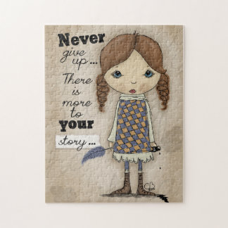 Your Story-Girl with Pen and Ink Jigsaw Puzzle