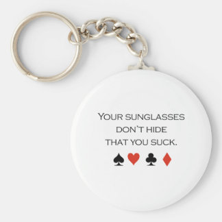 Your sunglasses dont hide that you suck T-shirt Keychain