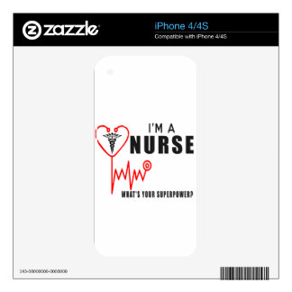 Your superpower nurse iPhone 4 skins