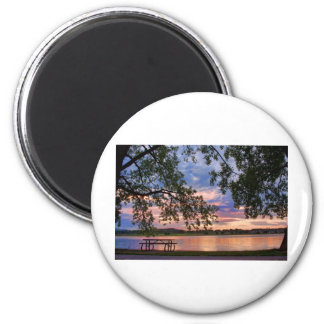 Your tabole with a Sunset View Magnet