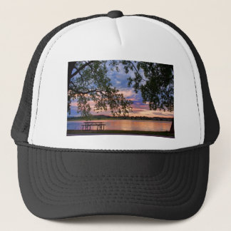Your tabole with a Sunset View Trucker Hat