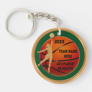 Your Team Colors, Text Girls Basketball Keychains