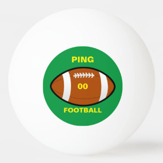 Your Team Football Ping Pong Ball
