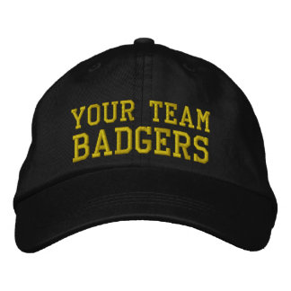Your Team Name Badgers Embroidered Ball Hat Cap Embroidered Baseball Cap