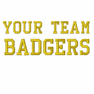Your Team Name Badgers Embroidered Polo Shirt