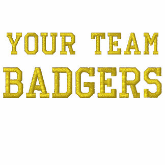 Your Team Name Badgers Embroidered tee Shirt