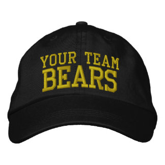 Your Team Name Bears Embroidered Ball Cap Embroidered Hat