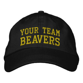 Your Team Name Beavers Embroidered Ball Cap Embroidered Baseball Cap