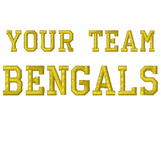 Your Team Name Bengals Embroidered Tee Shirt