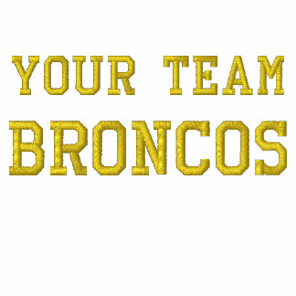 Your Team Name Broncos Embroidered Tee Shirt