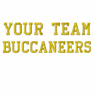 Your Team Name Buccaneers Embroidered Tee Shirt