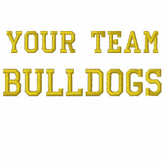 Your Team Name Bulldogs Embroidered Tee Shirt