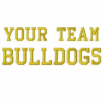 Your Team Name Bulldogs Embroidered Track Jacket