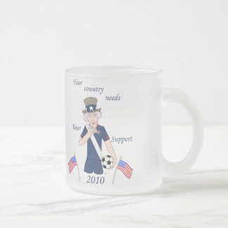 Your team needs you frosted glass coffee mug