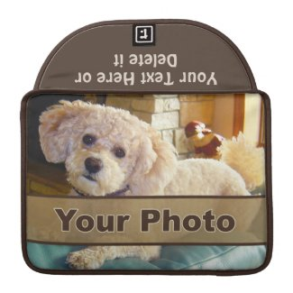 Your Text and 2 Photos Personalized MacBook Case