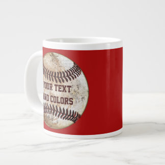 Your Text and Colors Cool Baseball Mugs
