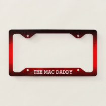 (YOUR TEXT) - Black and Red Gradient License Plate Frame