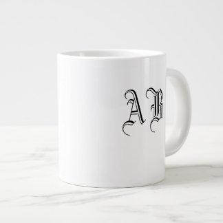 Your Text Ceramic Jumbo Mug Monogram Template