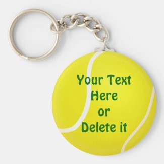 YOUR TEXT CHEAP Tennis Keychains Under $4.00