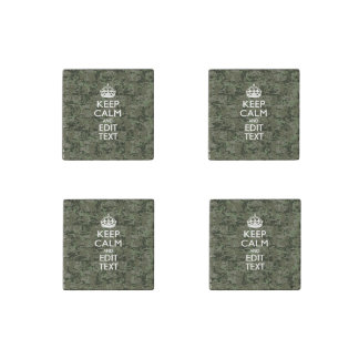 Your Text Digital Camouflage Camo Keep Calm Stone Magnet