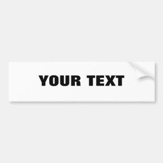"""Your Text """"Folio Extra Bold"""" Car Bumper Sticker"""