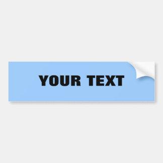 "Your Text ""Folio Extra Bold"" on Light Blue Car Bumper Sticker"