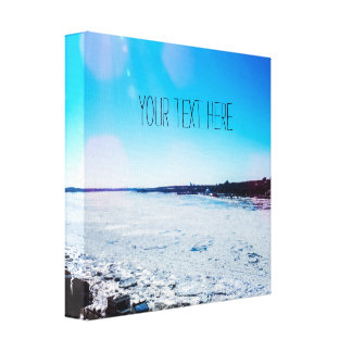 Your Text Here | Big Frozen River Canvas Print