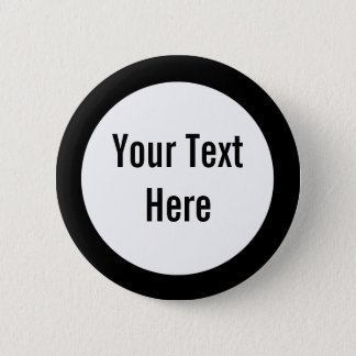 Your Text Here Black Border Custom Button